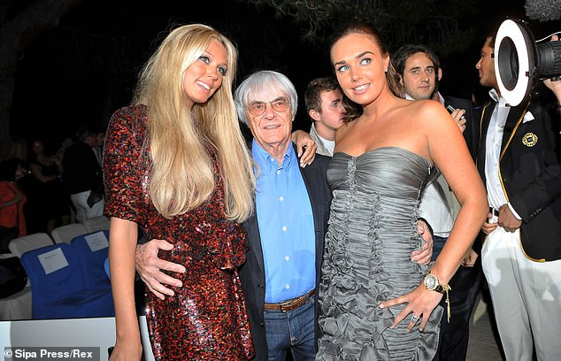 Tamara Ecclestone, Bernie Ecclestone and Petra Ecclestone pictured together in 2008