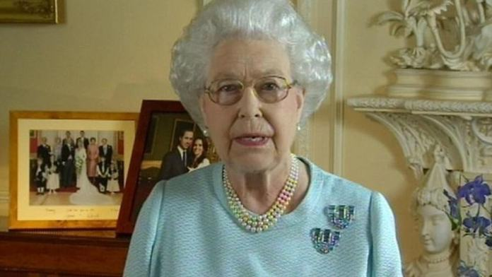 The Queen gave a televised address to the nation when it celebrated its diamond jubilee