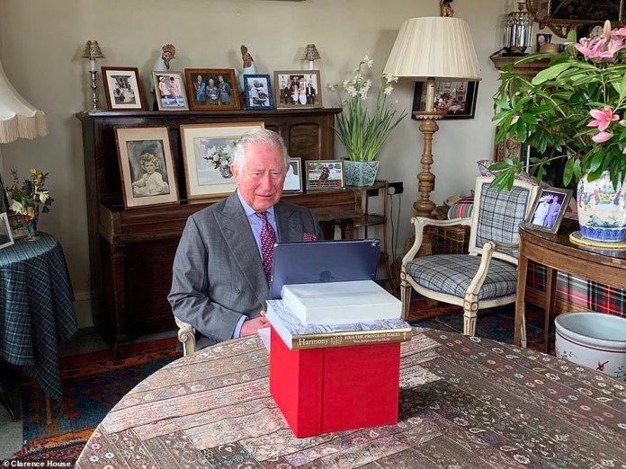 Prince Charles, 71, today opens the NHS Nightingale Hospital in East London via video link from his Scottish home in Birkhall today