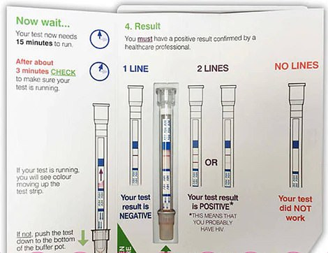 It works just like the company's HIV self-test, which requires the user to take a drop of blood using a safety lancet before using their pen to scan the sample for antibodies COVID-19
