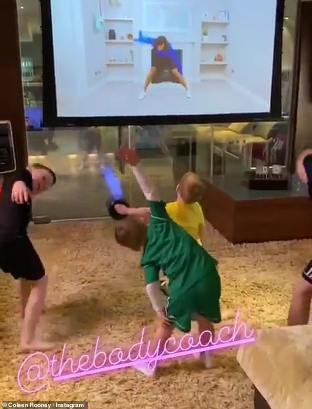 Hard at work:It comes shortly after Coleen revealed how she was keeping her little ones amused as she shared a sweet video to Instagram last month