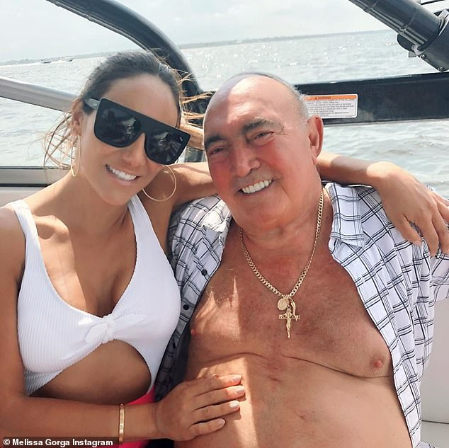 A dad to her:And Melissa Gorga shared several images with the caption: 'Heaven just got another angel You¿ve been the only Dad I¿ve known for the past 16 years'