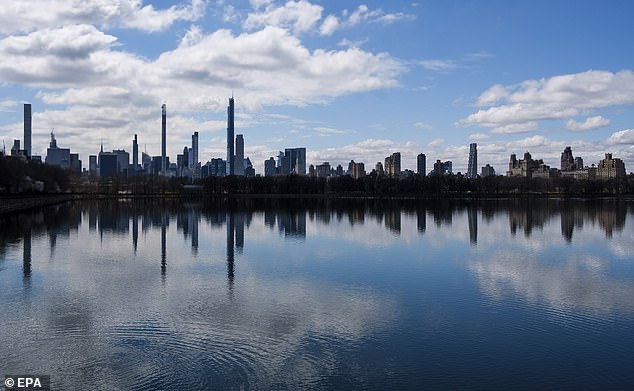 A view of the skyline from Central Park in New York City on Saturday. New York City is still considered the epicenter of the coronavirus outbreak in the United States