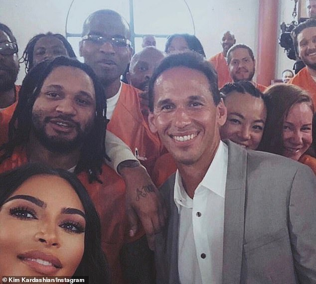 Busy: Kardashian thought about Instagram to go to the D.C. Correctional Treatment Center `` to discuss the fellowship program at Georgetown Prison with Dr. @marcmhoward ''