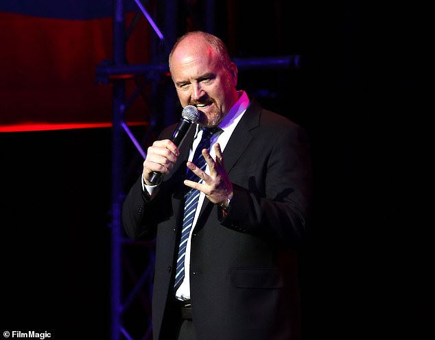 Comedian Louis C.K. jokes that having sex with a woman is like watching slaves singing while they are forced to work. He is pictured hereat Madison Square Garden on November 1, 2016