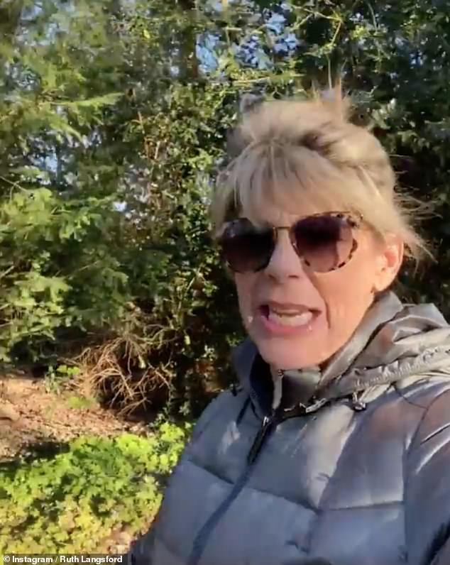 Update: During a refreshing walk with her dog Maggie, the media personality recounted her weekend to her 780,000 followers