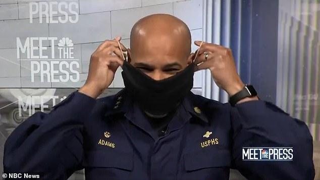 El pico, dijo Adams en Meet the Press de NBC el domingo por la mañana, probablemente será el 16 de abril, siempre y cuando los estadounidenses cumplan con las órdenes de quedarse en casa y escuchen las recomendaciones del grupo de trabajo de la Casa Blanca y los CDC, incluidas las nuevas recomendaciones de que todos usan un enmascarar cuando están en público