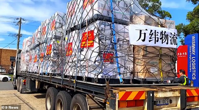 Pallets of medical equipment shipped to China by property developers Risland Australia, another Beijing-backed company that has redeployed staff to buy supplies for China