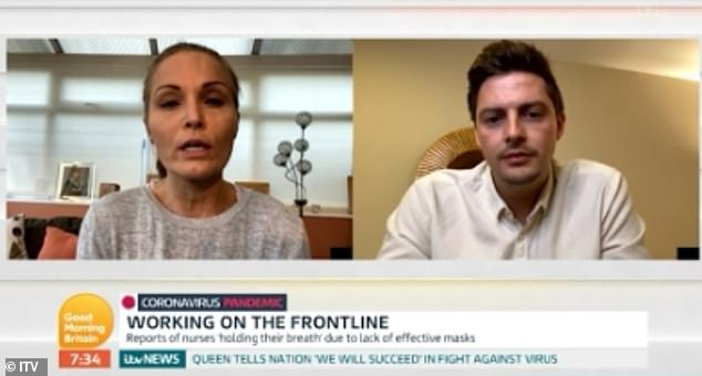 Huddersfield nurse Joanna Morrell was joined on Good Morning Britain by former Love Island contestant Dr Alex George, who has been working at Lewisham Hospital's A&E department during the coronavirus pandemic