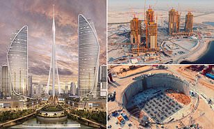 Work Halted On World S Tallest Building In Dubai As Major Projects Suspended Due To Coronavirus Daily Mail Online