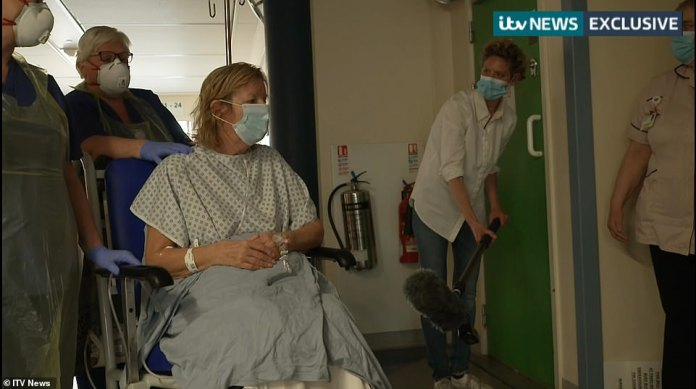 Linda New, a coronavirus patient, who was released today after a stay in intensive care, said: