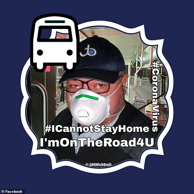 The late man's Facebook profile boasted an image of him wearing a mask and the writing that stated: 'I cannot stay home, I'm on the road 4 you'