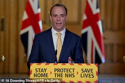 Dominic Raab said today that he is