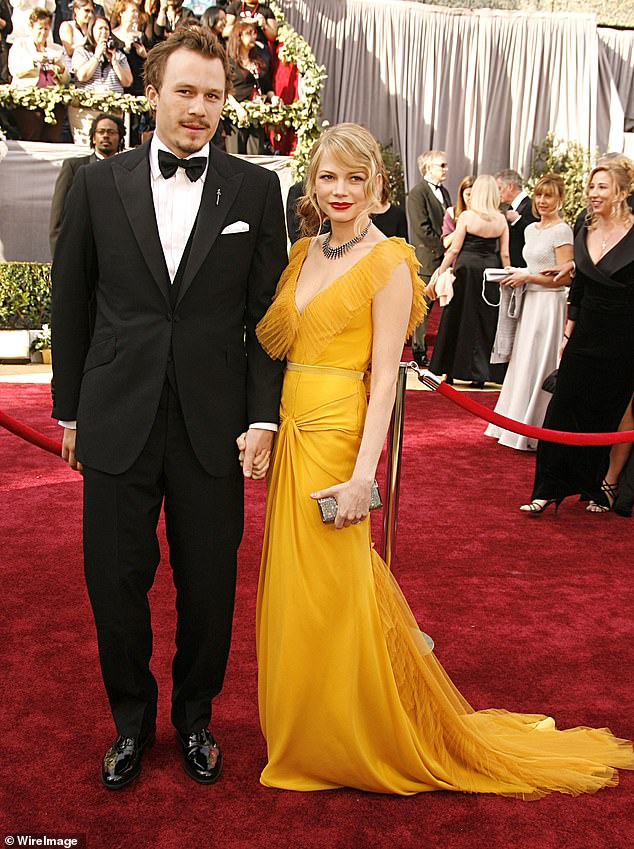 Audience: He still ended up attending the honors, however, seen at the awards with Brokeback co-star and girlfriend Michelle Williams