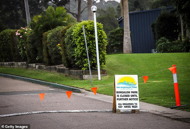 Bungalow Park at Burrill Lake on the NSW South Coast is shut. The normally thriving nearby tourist town of Ulladulla is encouraging visitors to stay away due to coronavirus