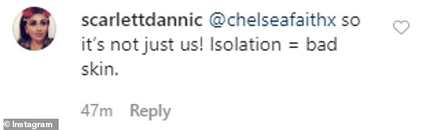 Uneasy: However, a subscriber seemed to agree with Chloé while commenting on the last message of the reality star on social networks