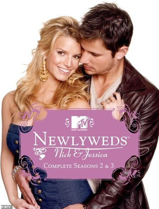 Reality royalty: The cover promoted her MTV reality series Newlyweds: Nick and Jessica, which ran from 2003 to 2005