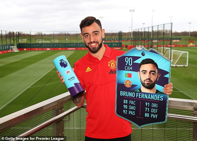 In January Fernandes won the Premier League Player of the Month award for February