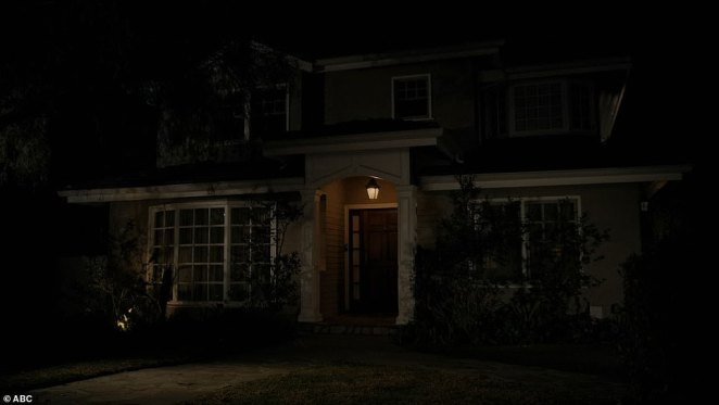 Lights out: All three families shut off the lights at their home, although Phil and Claire turned their porchlight back on as the series concluded