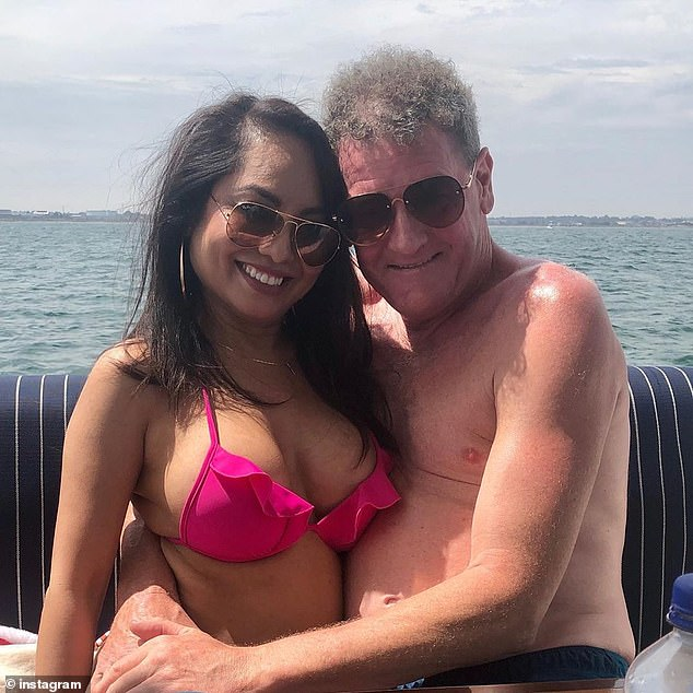 Former AFL agent Ricky Nixon (right) is pictured with his fiancee Melissa Huynh (left)