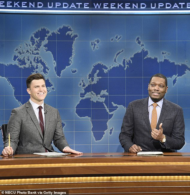 Tragic: The show's head writer Michael Che [R] revealed this week that his grandmother had died from COVID-19