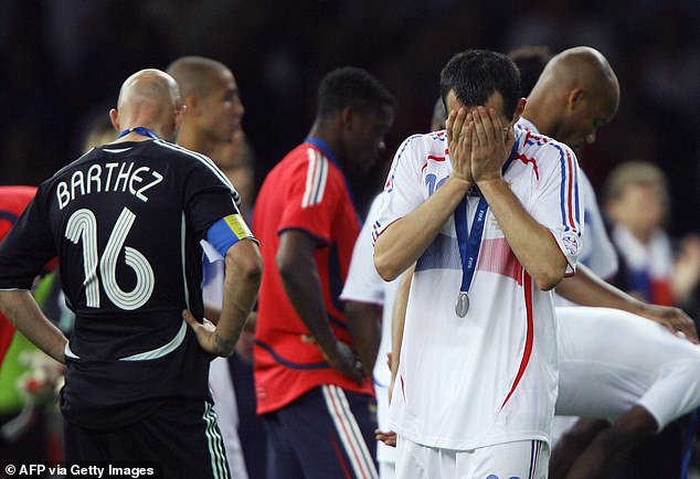 Sagnol was distraught after the final whistle when France's hopes for glory were over