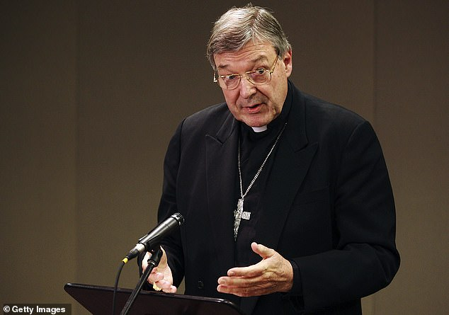 The 78-year-old spoke candidly about the church's failings following his release from prison in a sit down interview with Sky News Australia presenter Andrew Bolt. Pell is pictured in 2008