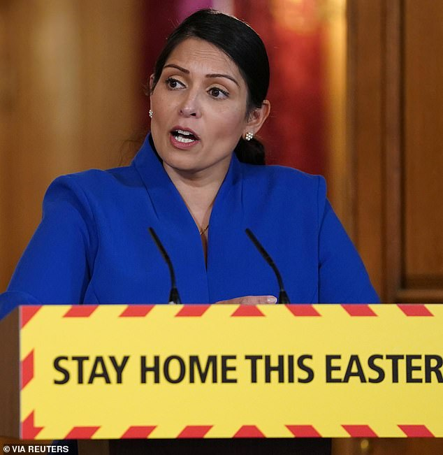 Interior Minister Priti Patel told reporters at a briefing in Downing Street that she