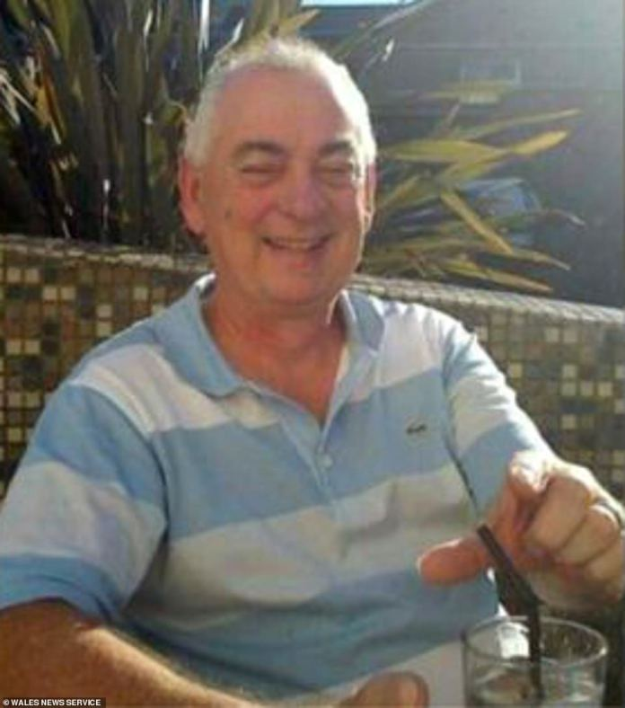 Gareth Roberts, 63, pictured after retiring to help fight coronavirus, has since been confirmed as the 20th NHS worker to die