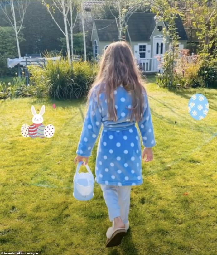 Wow! Judge BGT posted a snapshot of his Instagram stories of his youngest daughter chasing Easter eggs in their huge garden