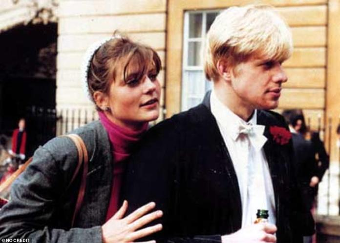 The complicated love life of Boris Johnson: the young Boris Johnson with his student colleague Allegra Mostyn-Owen in Oxford, who would become his first wife