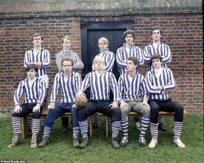 Boris Johnson, as captain of the Eton Wall game team in 1982. Johnson entered all of the sports he practiced with one ambition: to win