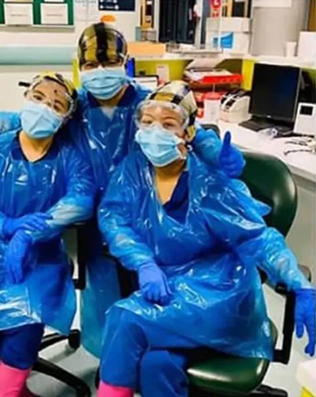 Nurses were photographed carrying bags of clinical waste on their heads at Northwick Park Hospital, which declared an emergency at the end of March when he lacked intensive care beds.