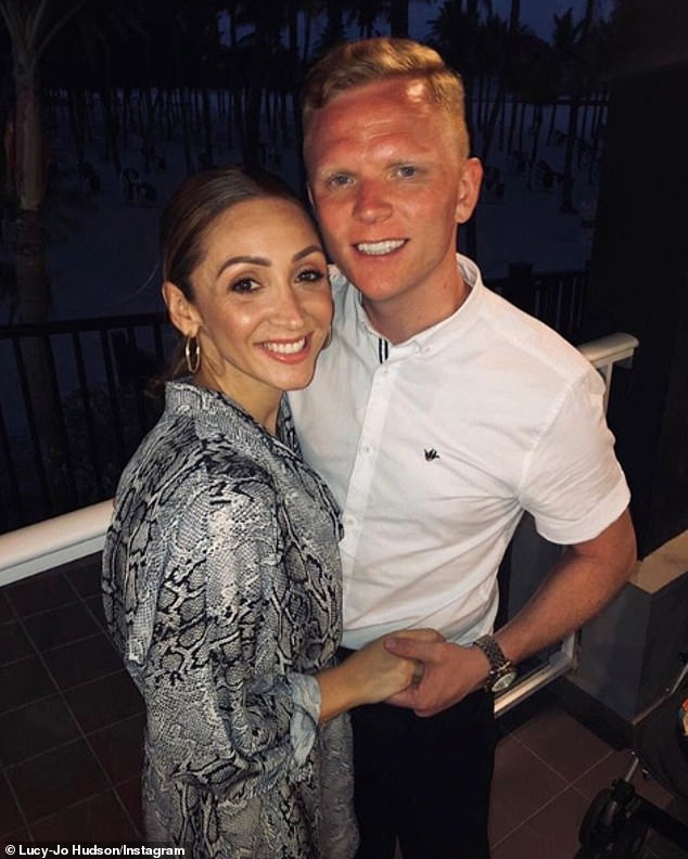 Breaking the silence: Lucy-Jo Hudson says ex-husband Alan Halsall `` must have regretted '' his hastily deleted Instagram rant against boyfriend Lewis Devine
