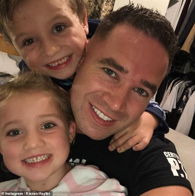 Youngest two: Katie also shares son Jett, seven and youngest daughter Bunny, five, with former stripper Kieran Hayler, 33, who she married in 2013