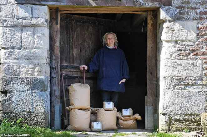 Imogen Bittner (pictured) has brought the mill back into commercial use in order to help in the battle against coronavirus