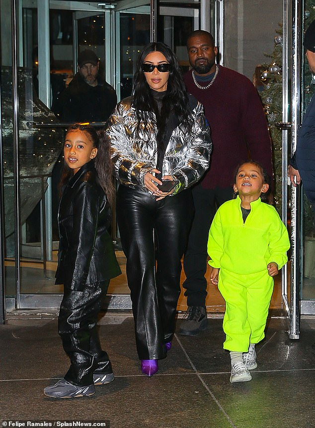 West has been married to Kim Kardashian since 2014, and the couple shares four children: North, Saint, Psalm and Chicago. The couple is pictured with North and Saint