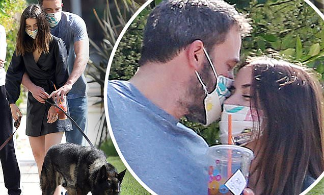 Ben Affleck wraps his arms around his girlfriend Ana de Armas