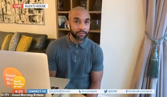 Heartbreak: Alex Beresford of Good Morning Britain revealed his family's anguish at not being able to say goodbye to his stepmother after his death earlier this week