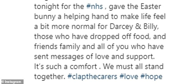 Tough times: Good Morning Britain presenter Kate, 52, went on Instagram to inform fans of her husband's health as she joined the nation to cheer NHS staff Thursday