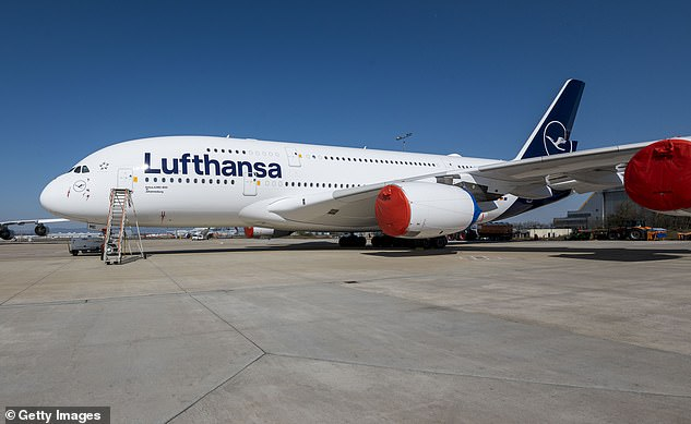 Lufthansa has scrapped half of its relatively new Airbus A380 aircraft. One is pictured above at Frankfurt Airport on March 25, parked after being retired from service by the German airline