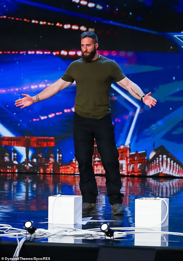 Showman: James Johnson watches every inch of the showman as he steps onto the BGT stage