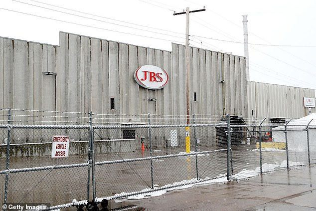 JBS was forced to shut down some of its US factories this week after more than 100 of its employees tested positive for coronavirus and four died (photo: now closed plant in Greeley, CO)