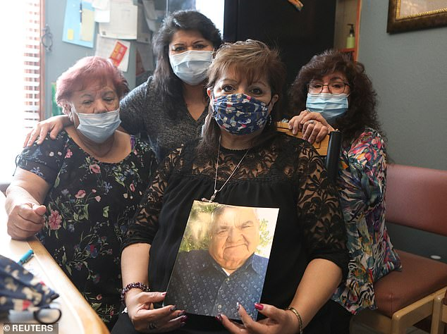 Last week, JBS - which sells beef and chicken under its Pilgrim Pride and Swift labels - announced plans to close a plant in Greeley, Colorado after the death of four of its employees from coronavirus , including longtime employee Saul, 78 Sanchez (pictured)