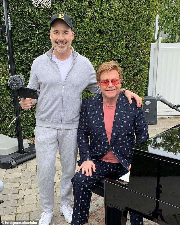 The Duke and Duchess of Sussex's paparazzi-proof property is said to be close to their friends, Sir Elton John and David Furnis (pictured together)