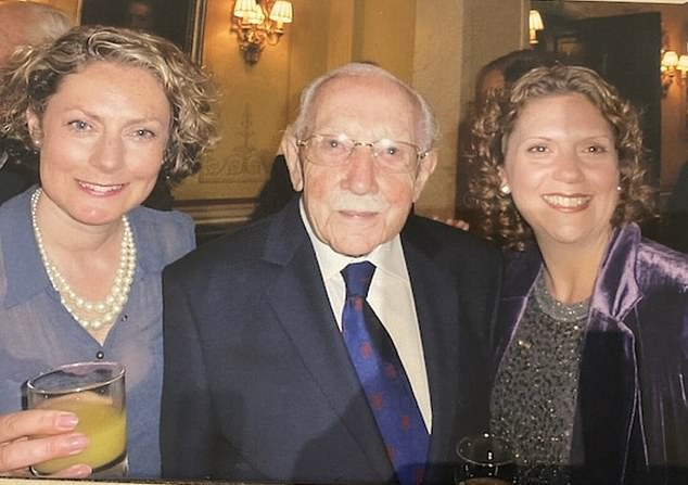 War hero Captain Moore is pictured with his two daughters Lucy and Hannah in a post on his Twitter account