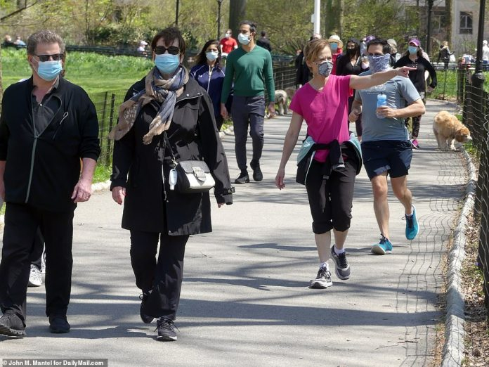 Sunday, Central Park was the popular spot for joggers and dog walkers