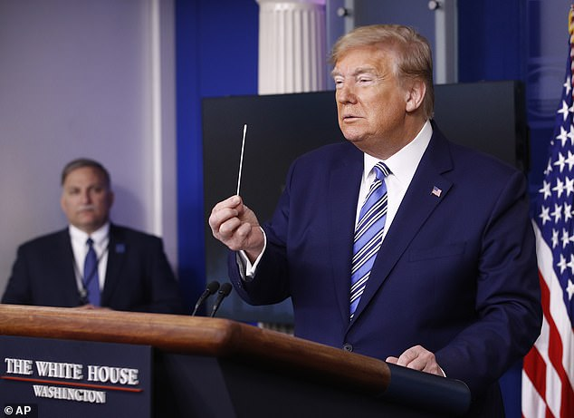President Trump made some news at the briefing, saying he would use the Defense Production Act to have more swabs made