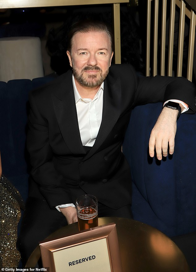 You enter? Ricky Gervais is said to have risked a feud with the Beckham family after he `` liked '' a negative tweet about `` doing '' with the family