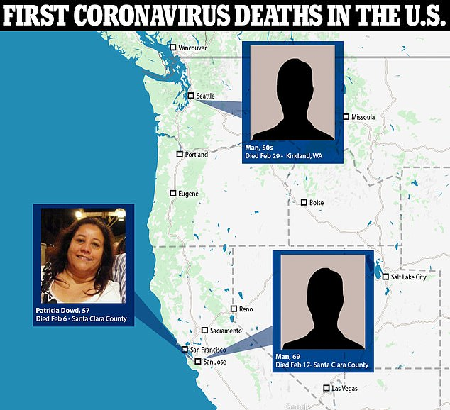 Dowd died on February 6 at her home in Santa Clara County, California, after complaining of flu-ike symptoms. It has also been revealed that a 69-year-old man also died in Santa Clara County from coronavirus on February 17, which is 12 days before what was believed to be the first death in Washington state